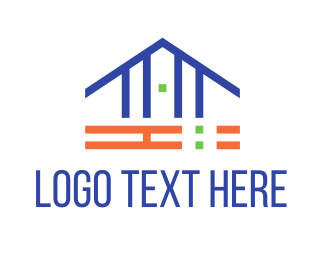 Bricklayer - Simple House logo design