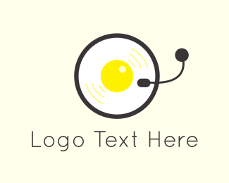 Vinyl - Egg & Music logo design
