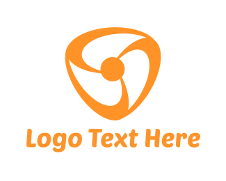 Fan - Orange Fan logo design