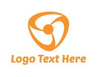 Spin - Orange Fan logo design