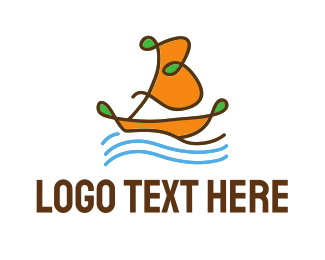 Yacht - Ocean Sailboat logo design