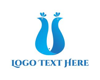 Peacock - Peacock & Fish logo design