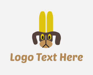 Banana - Banana Dog logo design