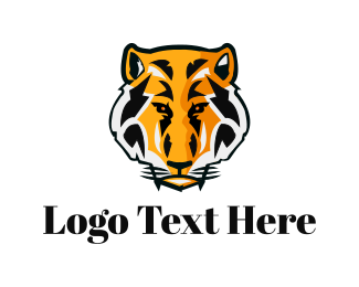 Jaguar - Tiger Head logo design