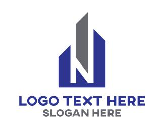 New Jersey - N City logo design
