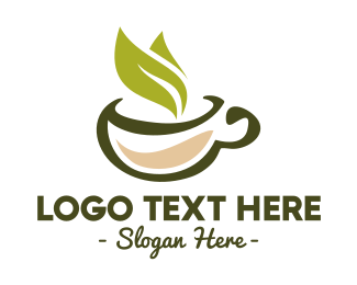 Mug - Green Tea Leaf logo design