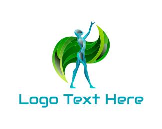 Robot - Blue Android logo design