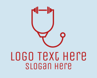 Stethoscope - Strong Health logo design