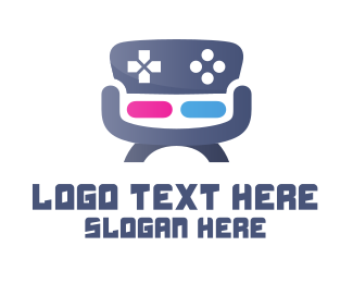 Furniture - Gaming Chair logo design