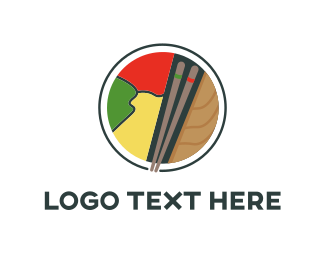 Japanese Food - Sushi Land logo design