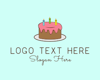 Candle - Birthday Cake logo design