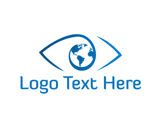 Earth - World Eye logo design