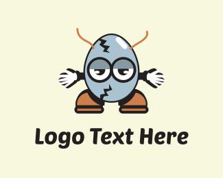 Broken - Egg Cartoon logo design