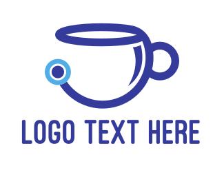 Barista - Tech Coffee logo design