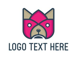 Superhero - Flower & Dog logo design