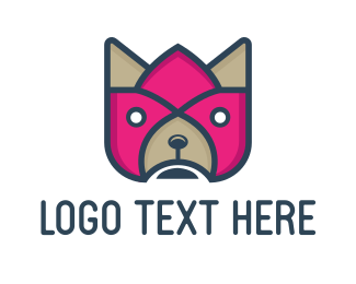 Pet - Flower & Dog logo design