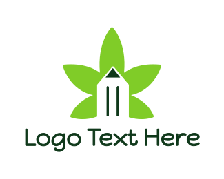Copywriter - Cannabis Pencil logo design