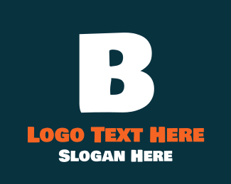 Friendly - Friendly Bold White Letter B logo design