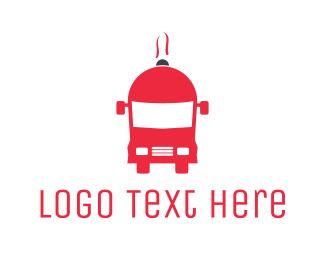 Delivery Service - Tray Bus logo design