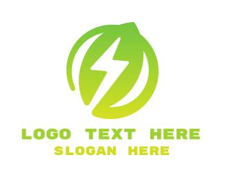 Energy - Energy Leaf logo design