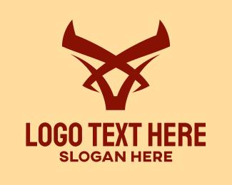 Burgundy - Red Centaur Symbol logo design