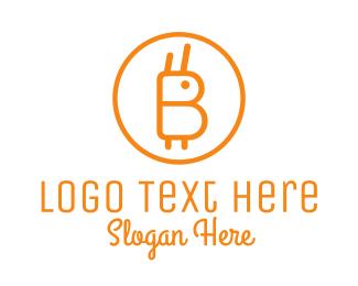 Exchange - Orange Rabbit Coin logo design