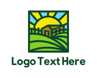 Farmer - Sunny Farmhouse logo design