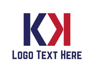 Letter K - K & K logo design