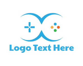 Joystick - Blue Controller logo design