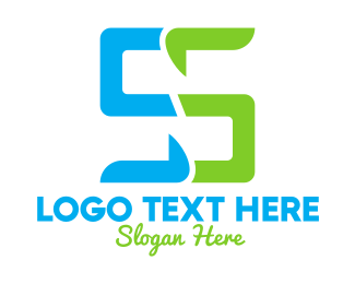 Number 5 - Digital Letter S logo design