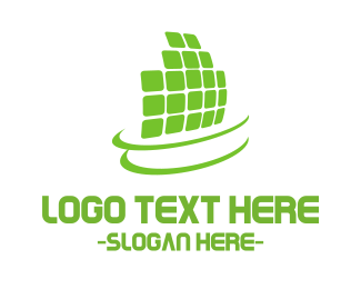 Solar Panel - Green Digital Panels logo design