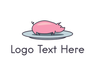Barbecue - Pork Plate  logo design