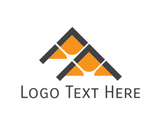 Townhouses - Orange Houses logo design