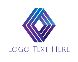 Insurance Broker - Modern Geometric Diamond logo design