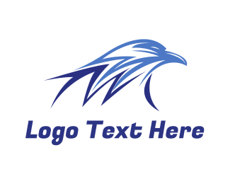 Freedom - Blue Thunder Eagle logo design
