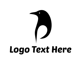 Beak - Black Penguin logo design