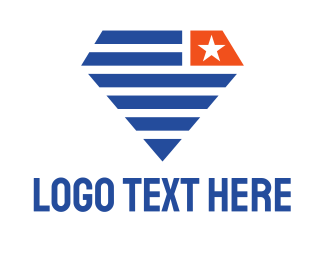 Politics - Diamond Flag logo design