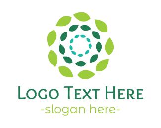 Zen - Green Flower Leaves logo design