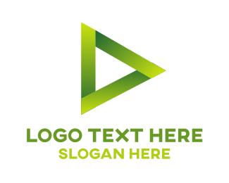 Player - Green Media logo design