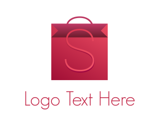 Mall - Pink Bag logo design