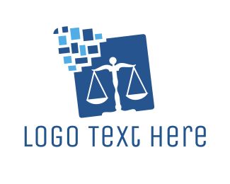 Balance - Digital Law Balance logo design