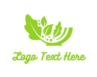 Lettuce - Green Salad Bowl logo design