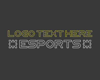 Type - Esport Gaming Text logo design