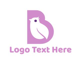 Little - Purple Bird logo design
