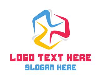 Running - Colorful Marathon logo design