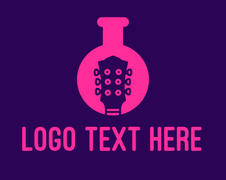 Flask - Lab Guitar logo design
