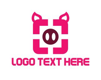 Square - Pig Square logo design