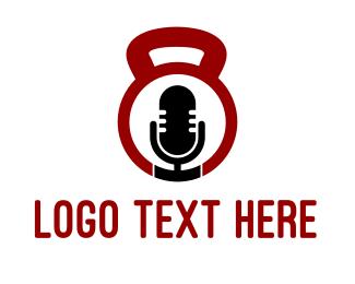 Podcast - Fitness Radio logo design