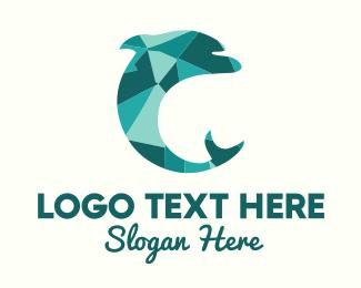 Mosaic - Dolphin Mosasic logo design