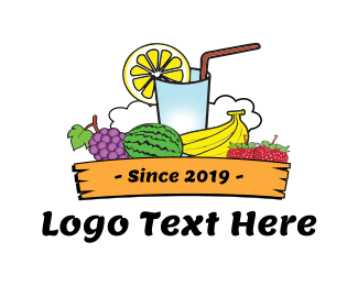 Banana - Tropical Juice logo design